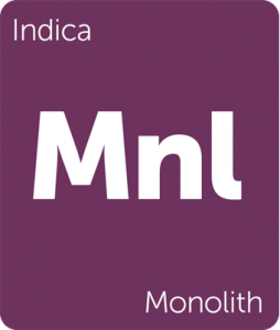 Leafly Monolith indica cannabis strain