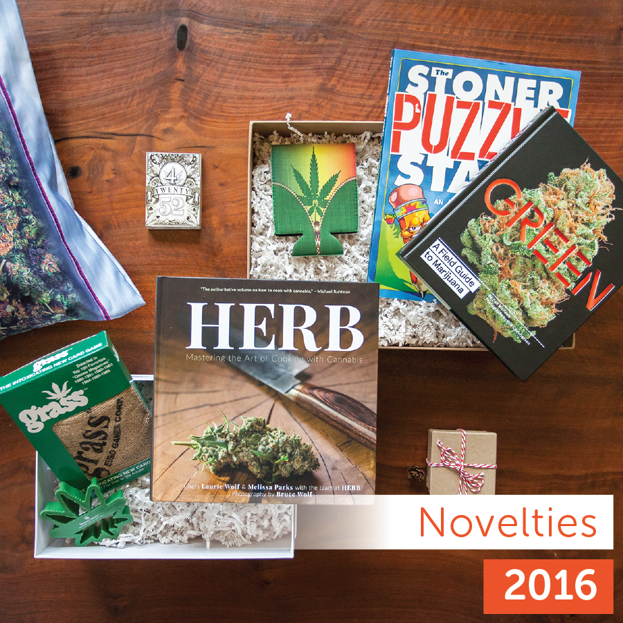 Leafly 2016 Holiday Gift Guide novelty product collection