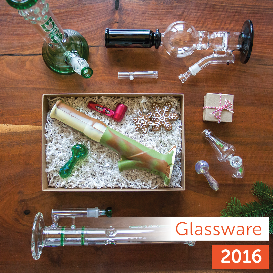 Leafly 2016 Holiday Gift Guide: glass product collection