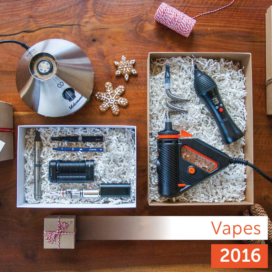 Leafly 2016 Holiday Gift Guide: vaporizer product collection