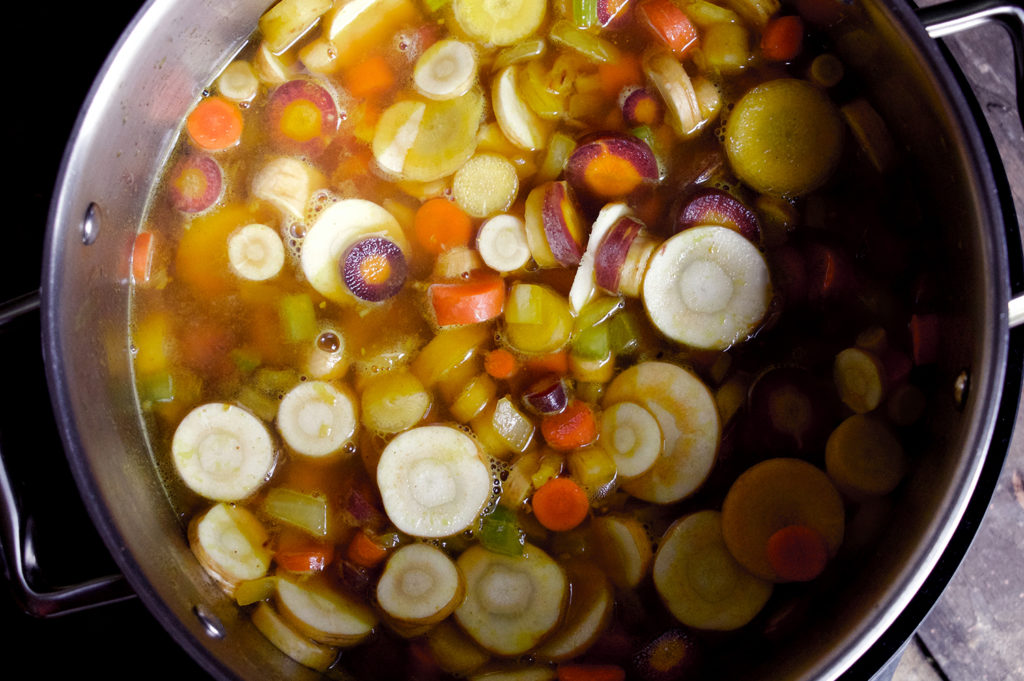 Simmer carrots for about 25 minutes.