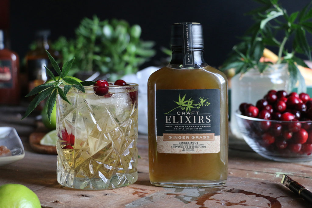 Craft Elixirs medicated syrups are so versatile! Mix up an easy cannabis cocktail by adding it to sparking water.