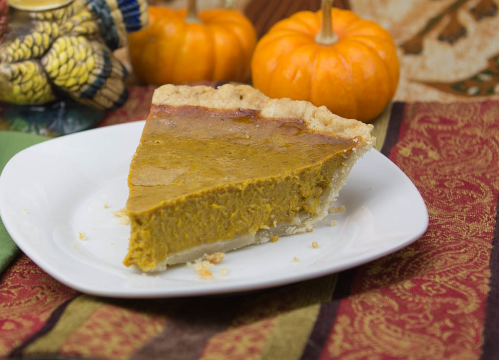 Classic pumpkin pie with a medicated twist.