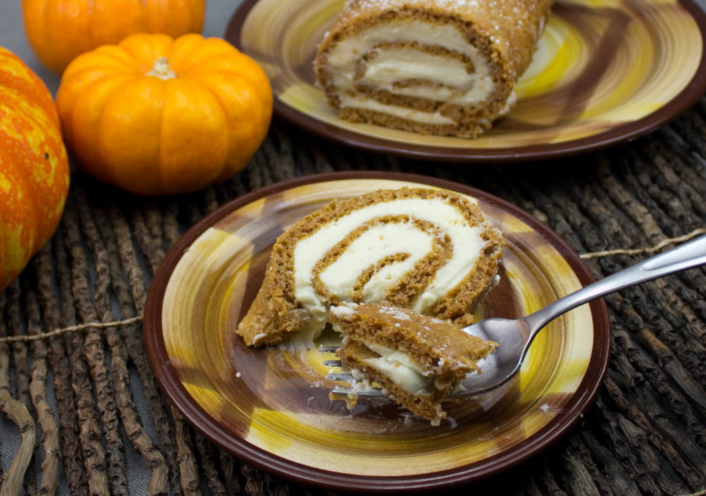 Pumpkin Roll-It-Up Cake will get you lifted!