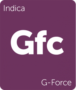 Leafly G-Force indica cannabis strain tile