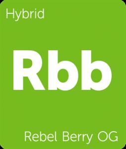 Leafly Rebel Berry OG cannabis hybrid strain