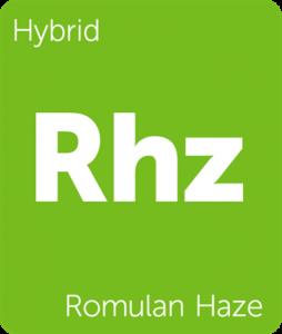 Leafly Romulan Haze hybrid cannabis strain