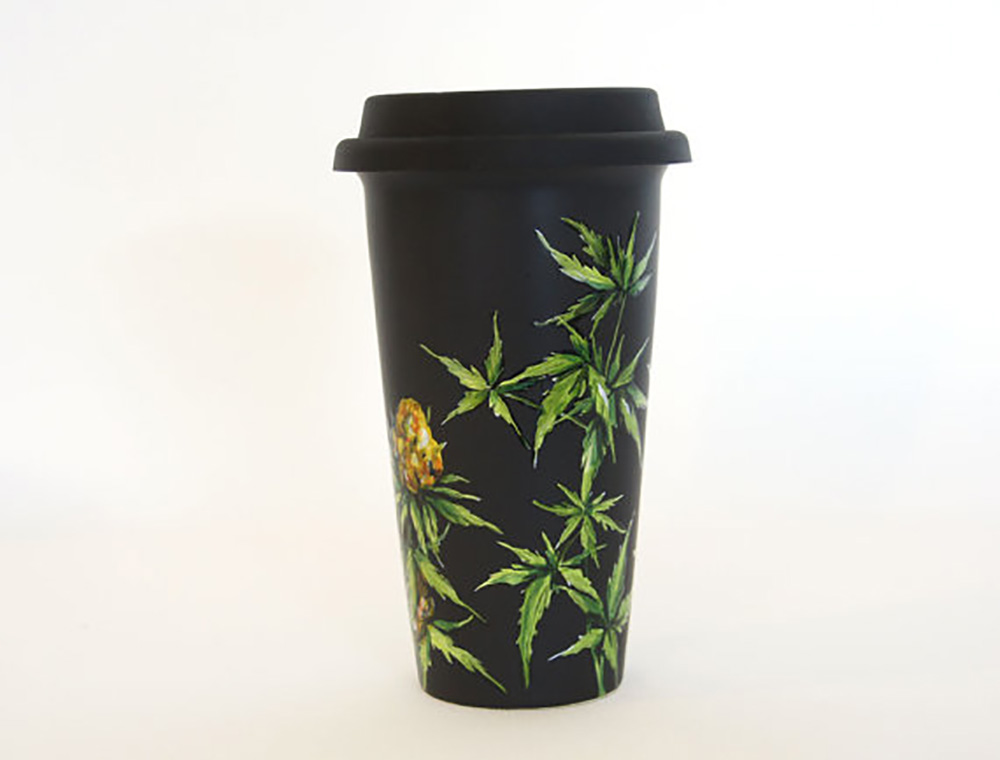 Sip your coffee in style with this eco-friendly, artistic reusable travel mug.